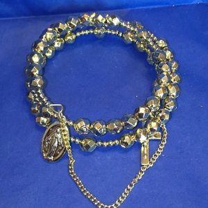 Vintage 50s rosary bracelet new size small